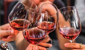 Four-friends-toast-before-consuming-alcoholic-drinks_