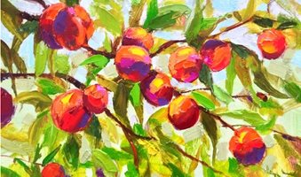Peaches-Oil-Painting