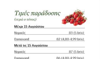 Με πριµ οψιµότητας συν 4 ευρώ η βιοµηχανική ντοµάτα
