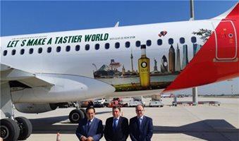 Το αεροπλάνο ελαιολάδου της Iberia από την Ισπανία άρχισε τις πτήσεις του