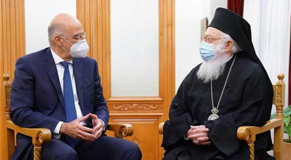 nikos-dendias-arxiepiskopos-tiranon-durraxiou-kai-pasis-albanias-anastasios