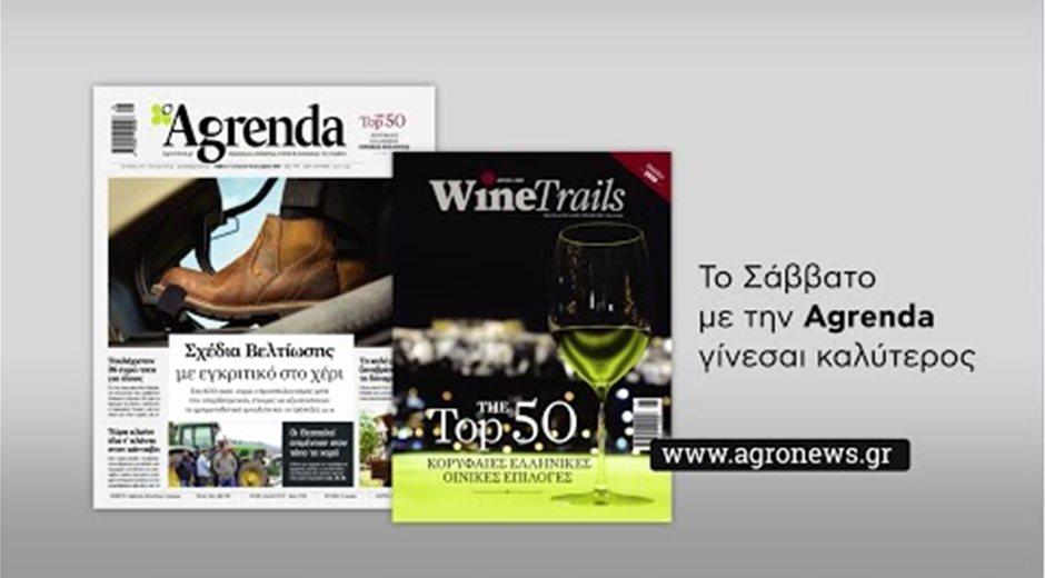 Agrenda Σάββατο 14 Δεκεμβρίου Τop 50 Wine trails