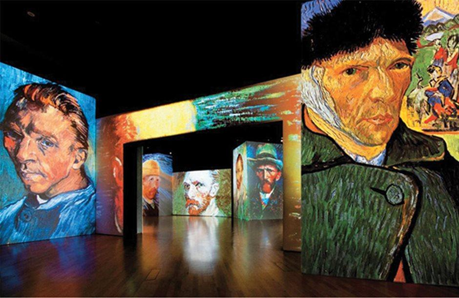 Η φαντασμαγορική έκθεση Van Gogh Alive φιλοξενείται στο Μέγαρο Μουσικής