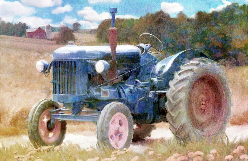 harvest-time-blue-tractor-katrina-jones