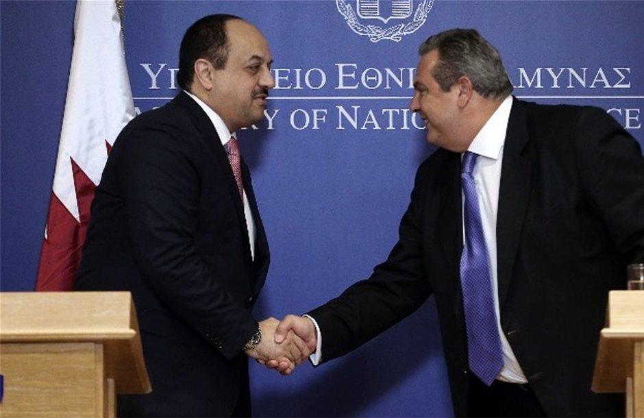 Συνάντηση των υπουργών Άμυνας Ελλάδας και Κατάρ