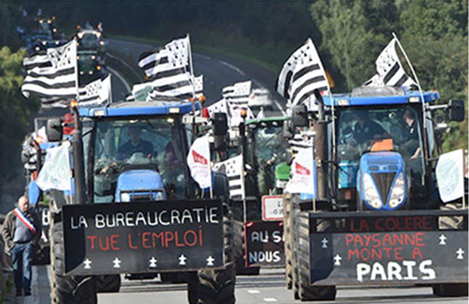 Mε τα τρακτέρ για το Παρίσι οι Γάλλοι αγρότες