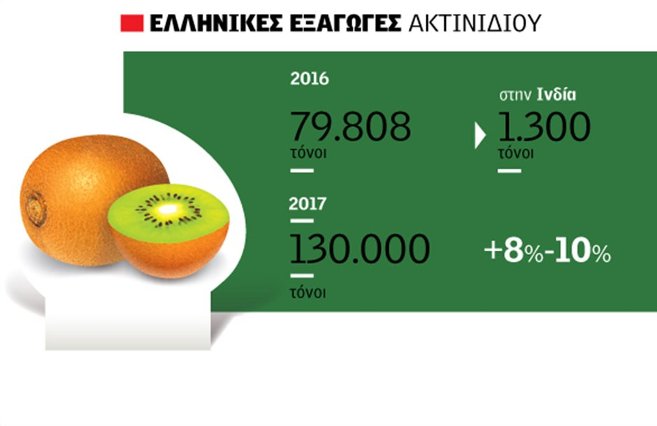 Η μειωμένη παραγωγή της Ιταλίας δίνει πόντους στα ελληνικά ακτινίδια