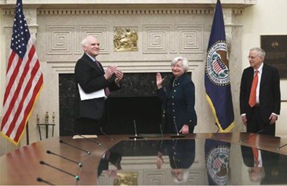 Ορκίστηκε η νέα πρόεδρος της Fed, Τζάνετ Γέλεν